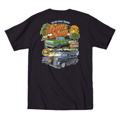 2016 Run to the Sun official car show event t-shirt black Myrtle Beach South Carolina