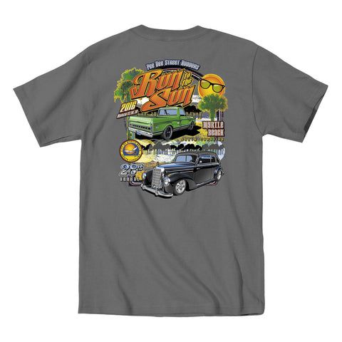 2016 Run to the Sun official car show event t-shirt charcoal Myrtle Beach, SC