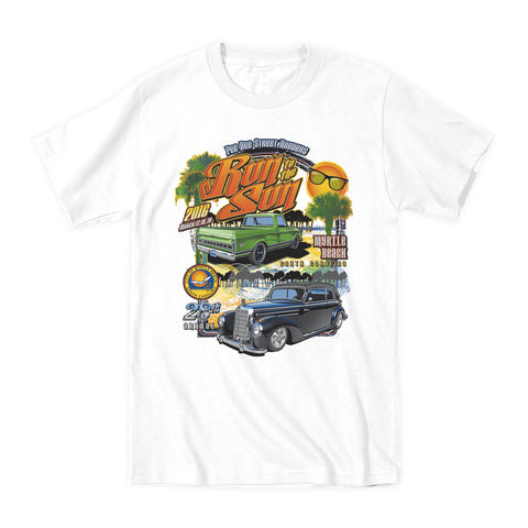 2016 Run to the Sun official car show event t-shirt white Myrtle Beach South Carolina