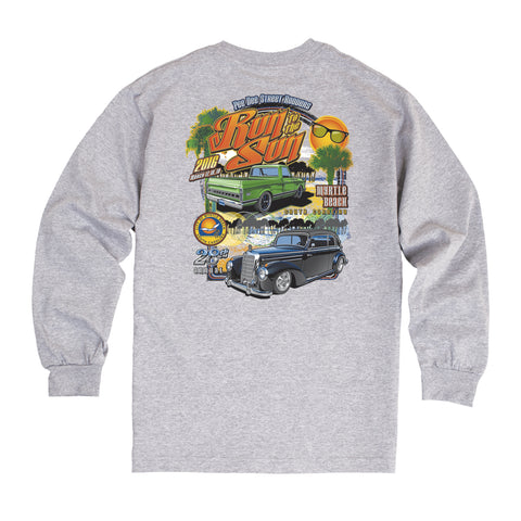 2016 Run to the Sun official car show event t-shirt Gray Long Sleeve Myrtle Beach