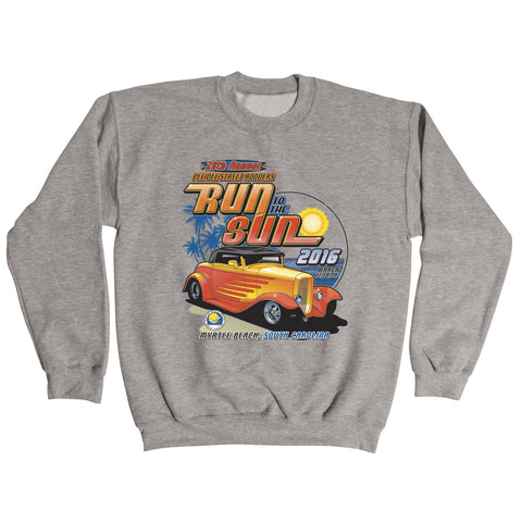 2016 Run to the Sun official car show event gray sweatshirt Myrtle Beach, SC