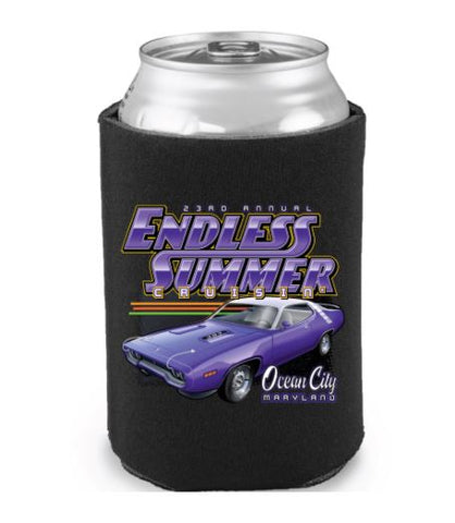 2020 Endless Summer Cruisin Ocean City official car show event can coolie (pack of 2)