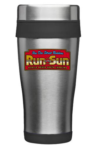 Run to The Sun official car show travel coffee mug Myrtle Beach SC