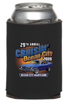 SALE - 2019 Cruisin Ocean City official car show can coolie (pack of 2)
