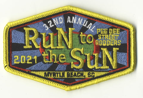 2021 Run to The Sun Hat Patch, Myrtle Beach, SC - full color design