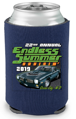 2019 Endless Summer Cruisin Ocean City official car show event can coolie (pack of 2)