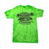 2019 Cruisin Endless Summer car show event t-shirt lime green tie dye Ocean City MD