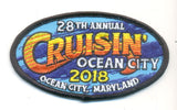 2018 Cruisin Ocean City Hat Patch, Ocean City, Maryland