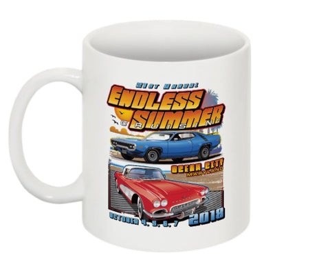 2018 Endless Summer Cruisin Ocean City official car show event coffee mug