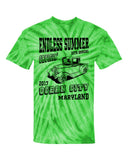 2017 Cruisin Endless Summer official car show event t-shirt lime tie dye Ocean City MD