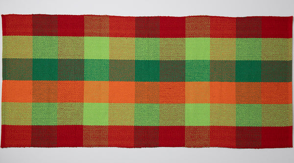 HOME ESSENTIAL - Scatter Rug - Red and Green Check