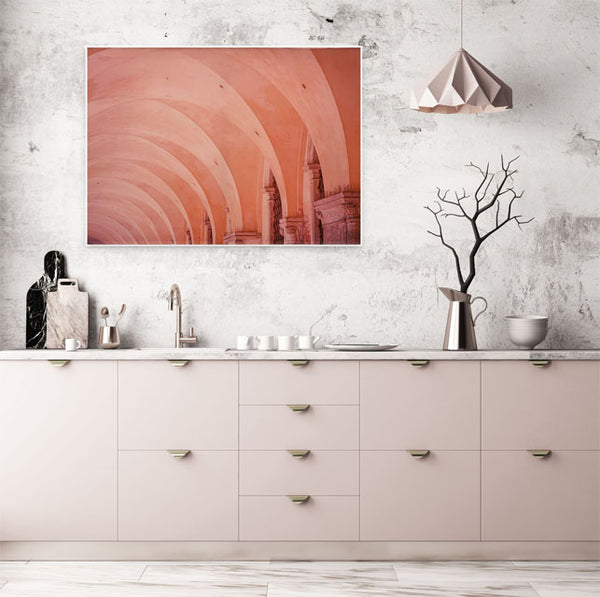 Framed Wrapped Canvas Photoreal Print - Arched Ceiling