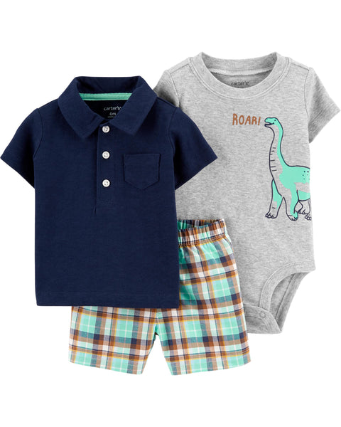 CARTER'S - 3 Piece Polo Little Short Set