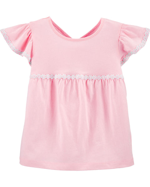 CARTER'S - Embroidered Jersey Top, Infant  Girl