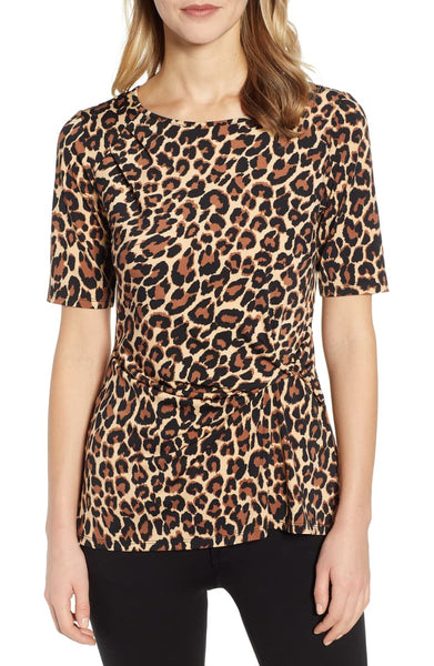 CHAUS - Animal Side Knot Top