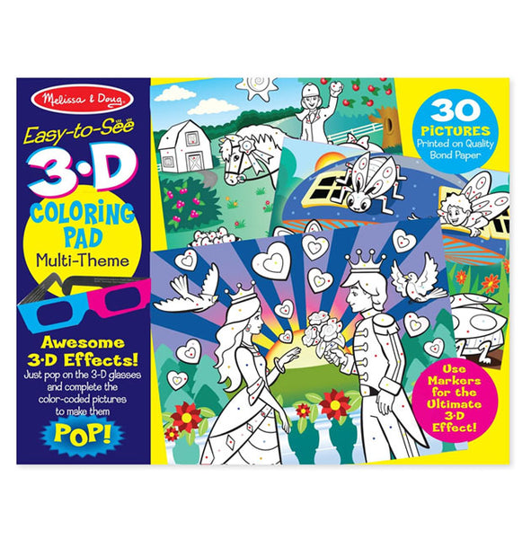 MELISSA AND DOUG - 3D Princess Coloring Pads - (4Yrs+)