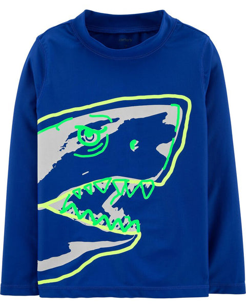CARTER'S -  Shark Rashguard, Boy 5-8