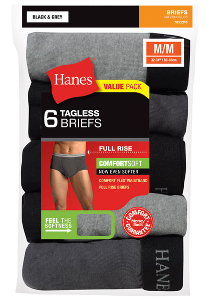 HANES - Full Rise Dyed Brief - 6Pack