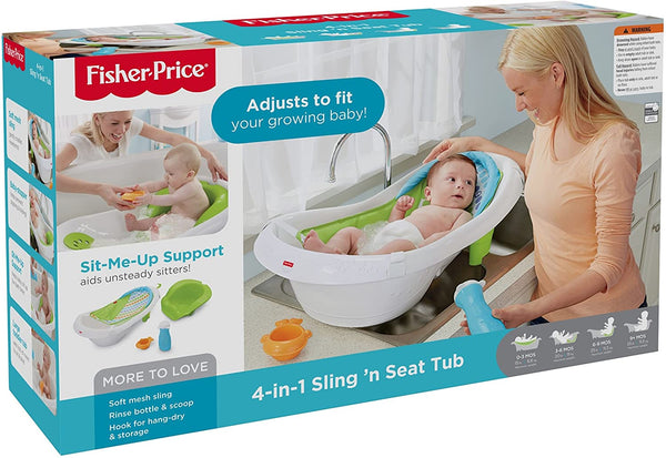 FISHER PRICE - 4-In-1 Sling 'N Seat Tub - Green