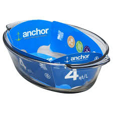 ANCHOR HOCKING -  Oven Basics 4 Quart Oval Roaster