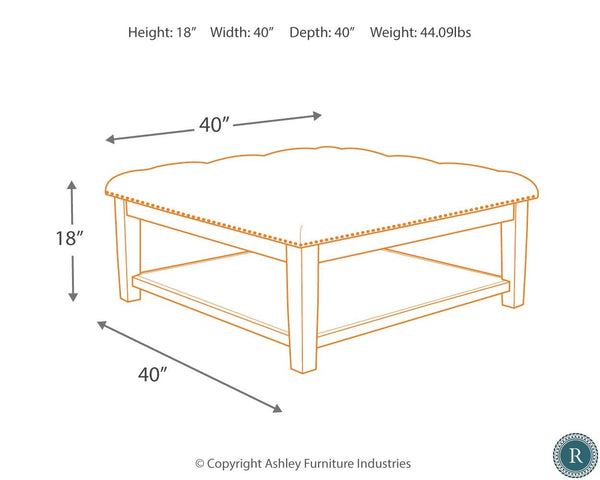 ASHLEY FURNITURE - Borlofield Tufted Ottoman Coffee Table