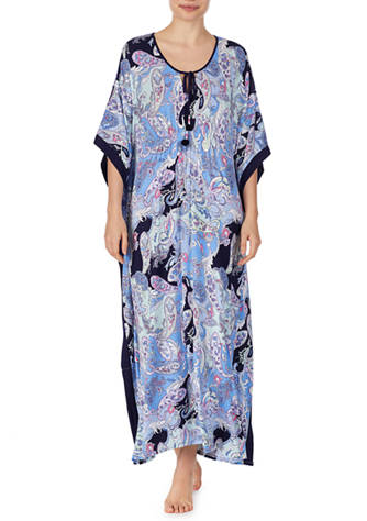 ELLEN TRACY - Printed Long Caftan - Assorted Colours