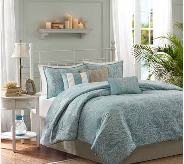 MADISON PARK - Carmel 7 Piece Comforter Set