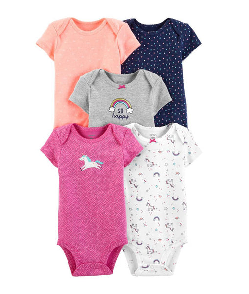 CARTER'S -  5 - PK Unicorn Original Bodysuits