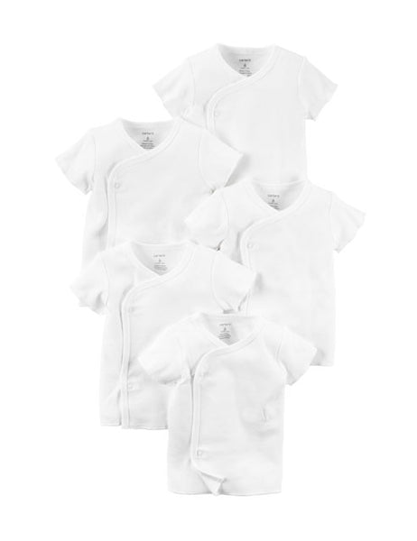 CARTER'S - 5 - PK Side Snap Tee - (White)