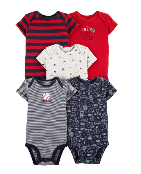 CARTER'S - 5 - PK Sports Original Bodysuits