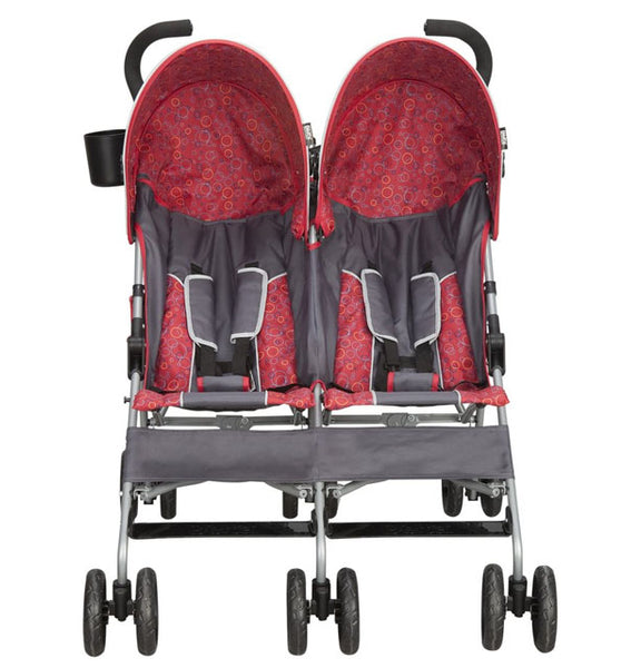 DELTA - LX Side by Side Stroller - Gray/Red