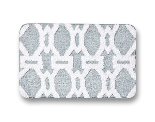 DELUXE - Lattice Microfiber Bath Mat - Assorted Colours