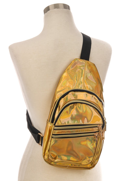 ANARCHY STREET - Single Strap Glossy Backpack