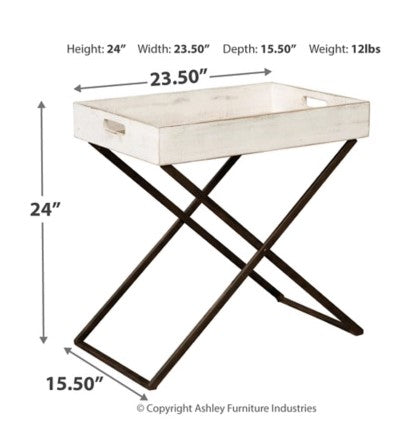 ASHLEY FURNITURE - Janfield Accent Tray Top Table