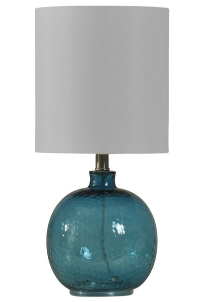 STYLECRAFT - Mini Spanish Glass Ball Lamp - Blue