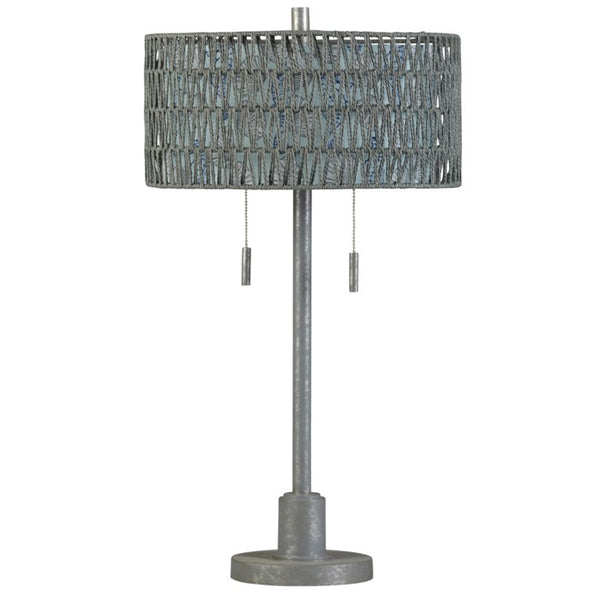 STYLECRAFT - Coastal Galvanized Painted Lamp