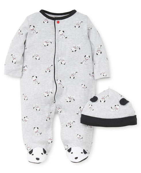 LITTLE ME - Dalmation Footed One Piece and Hat