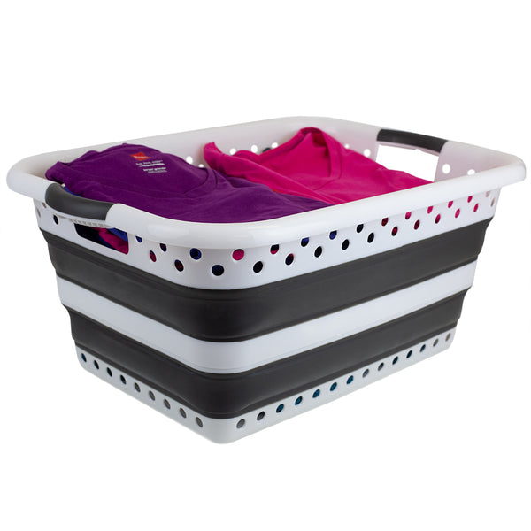 HOME BASICS - Collapsible Laundry Basket