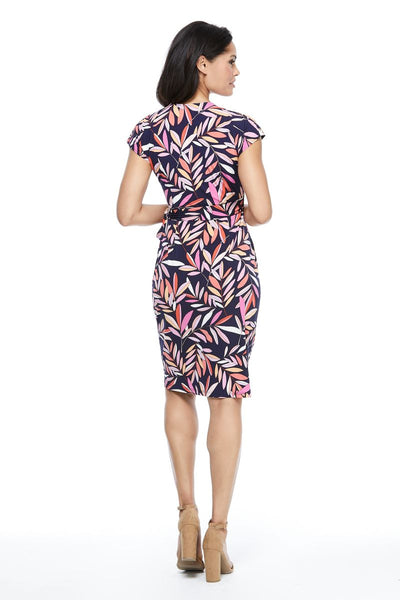 MAGGY LONDON - Leafy Geo Wrap Dress