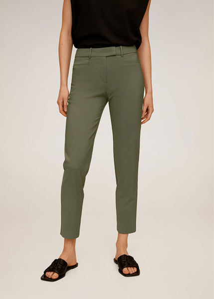 MANGO - Cotton Crop Pants - Assorted Colours