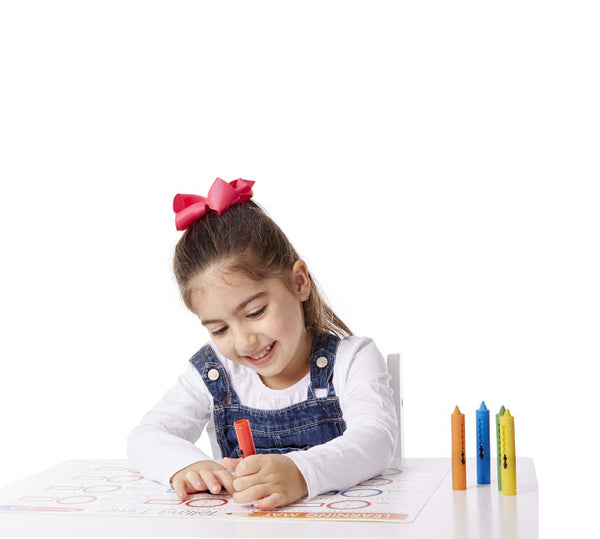 MELISSA AND DOUG - Learning Mat Crayons - (3Yrs+)