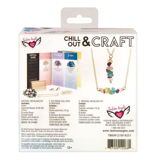 FASHION ANGELS - Chill Out And Craft Kit - Crystal Necklace