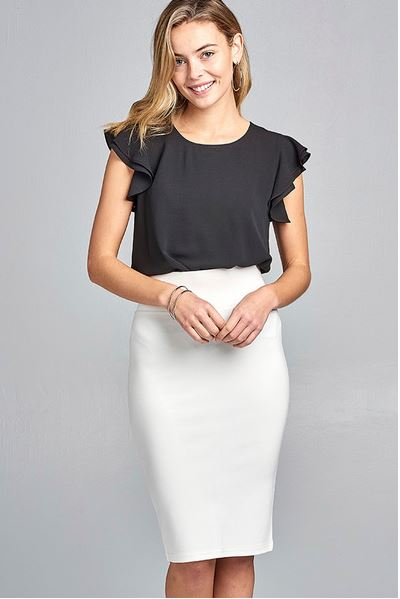 ACTIVE BASIC - Ponte Pencil Skirt
