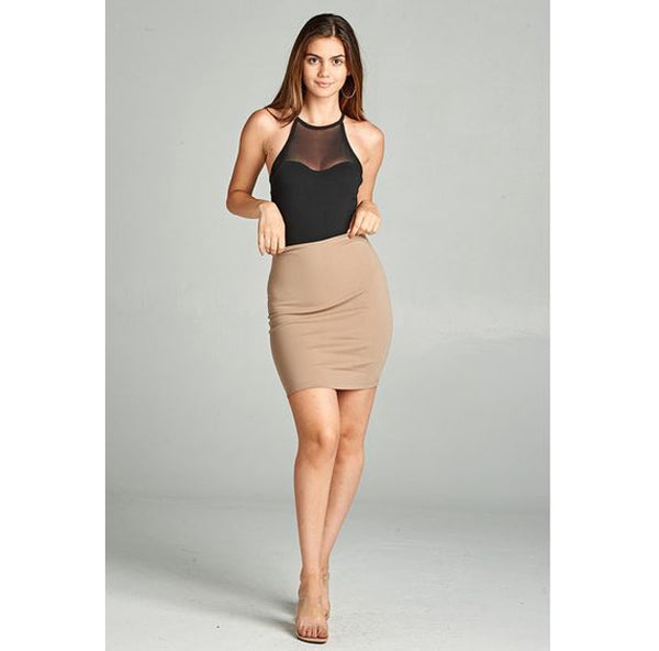 ACTIVE BASIC - Fitted Ponte Mini Skirt