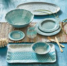 "TAG - Neela Melamine 11"" Dinner Plate Set of 4 - Aqua"