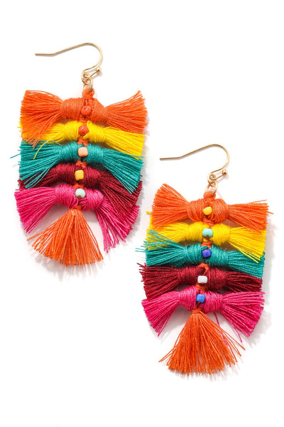 ANARCHY STREET - Linked Mini Tassel Dangle Earrings
