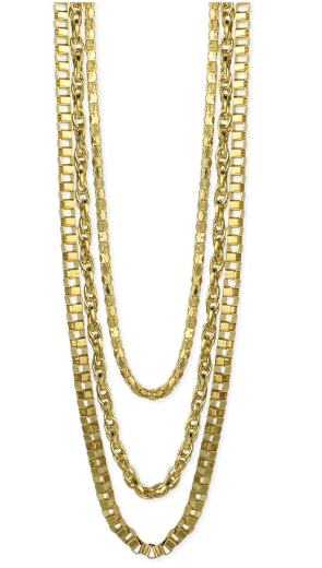 ZAD - Gold Chains Layer Necklaces Set