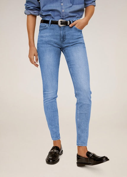 MANGO - Kim Skinny Push-Up Jeans - Medium Blue