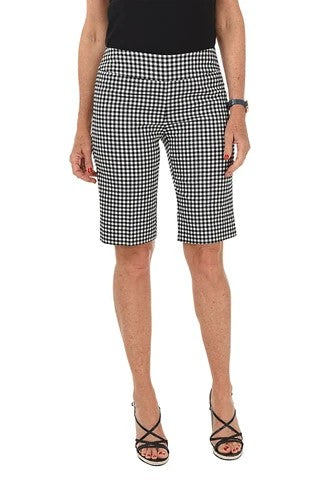 ZAC AND RACHEL - Gingham Print Bermuda Short - Black
