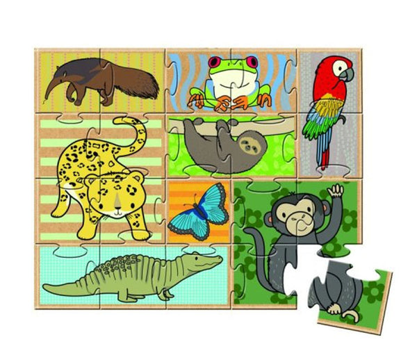 GREEN START - In The Rainforest Book and Puzzle - (3+Yrs.)